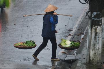 Life of vietnamese vendor in VIETNAM