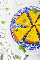 Orange Upside Down Cake with vanilla and honey