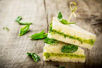 Bruschetta with watercress salad