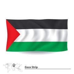 Flag of Gaza Strip
