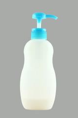 liquid soap plastic bottles isolated