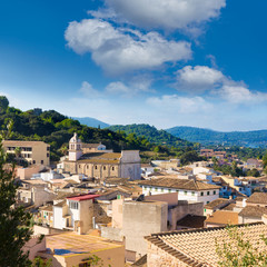 Majorca Capdepera village at  Mallorca Balearic
