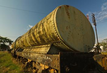 Old rusty Bogie Water Tank Wagon (BWT.)