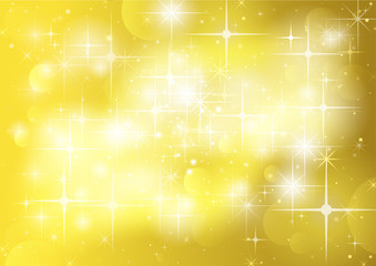 Gold Background With Stars And Sparklers