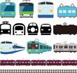 電車と新幹線のアイコンとライン - 79777064