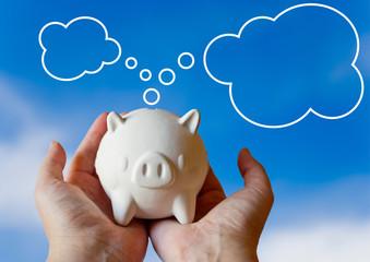 piggy bank with dream