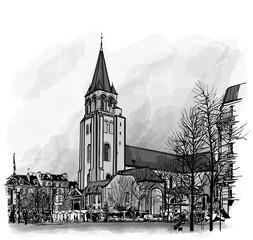 France, Paris, Ancient church Saint Germain des Pres