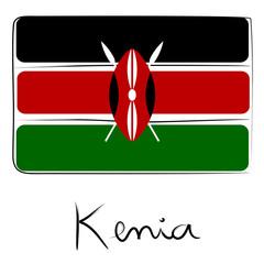Kenya flag doodle