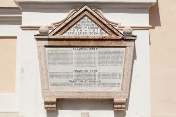 Targa commemorativa, Castelrotto