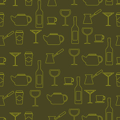 seamless abstract background with drinks