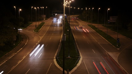 Time Lapse Busy Highway - HD 1080p footage