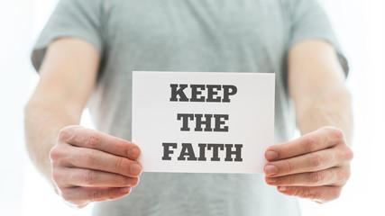 Keep the faith message