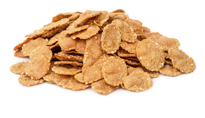 Cornflake cereals isolated
