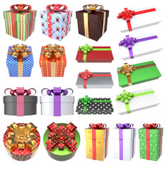 Christmas Gifts 3D Set 3