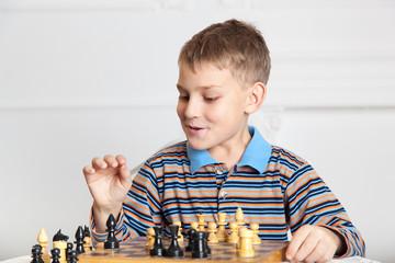 beautiful boy playing chess 4