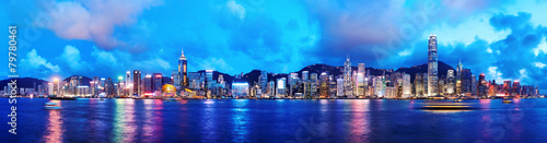 Leinwanddruck Bild Hong Kong at Night