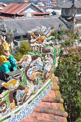 Фрагмент декора в Пагоде Линь Фуок в Далате