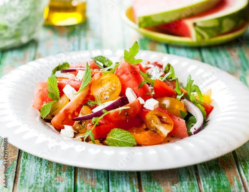 Staande foto Keuken Watermelon Salad