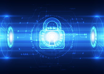 Abstract technology security network background, vector