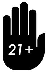 21 plus age limit icon