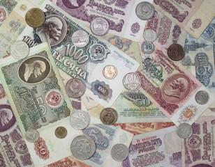 Старые банкноты и монеты СССР