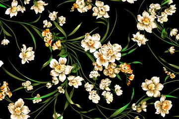 Floral vintage Background seamless