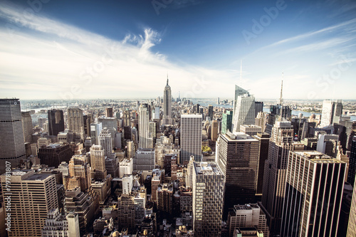 Top view of New York City