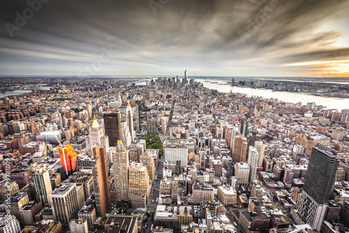 Fotobehang New York Top view of New York City