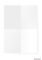 White A4 size paper sheet, Vector