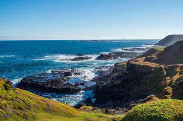 Rugged Australian coastline on Phillip Island