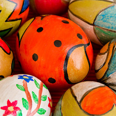 hand painted eggs.