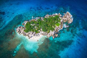 Beautiful view to Seychelles Coco island