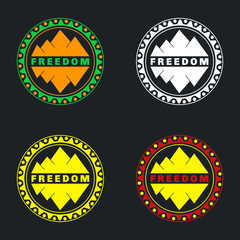 Mountain badge set. Can be used as stickers, logos, background f