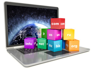 abstract global internet communication PC technology
