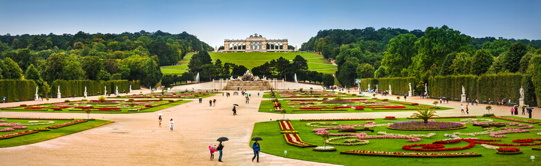 Schonbrunn palace gardens and Glorietta in Vienna, Austria