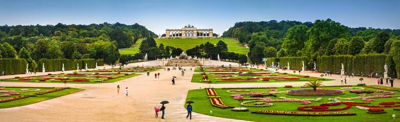 Schonbrunn palace gardens and Glorietta in Vienna, Austria