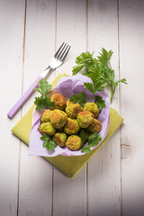 peas vegetarian meatballs