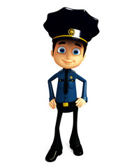 Policeman with standing pose