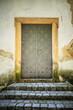 metal door in an ancient fortress