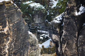 Rocks near the famous Bastei in Swiss Saxony