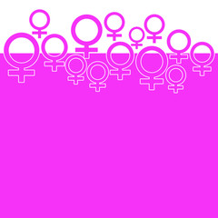 Pink Background With Female Symbol