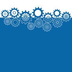 Blue Background With Gears