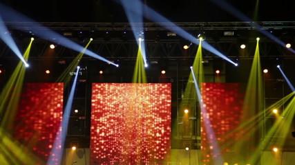 Stage lights at the concert - spectacular stage design