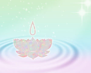 Mystic lotus flower