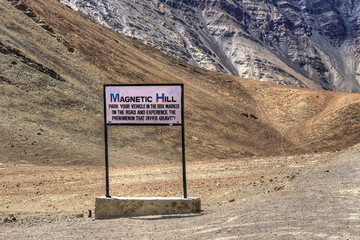 Magnetic Hill , leh, Ladakh, Jammu and Kashmir, India