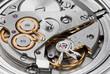 Leinwanddruck Bild - Clock mechanism with gears