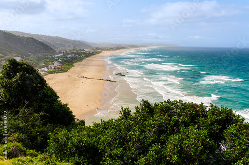 Tuinposter Zuid Afrika Aerial view of Wilderness Beach