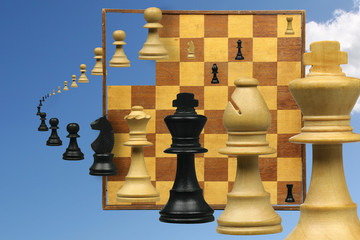 variation on a chess game