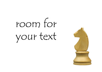 white knight chess piece with room for your text