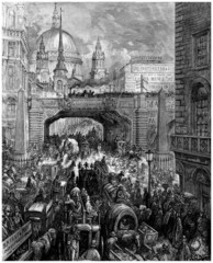 A Street in London : view 19th century